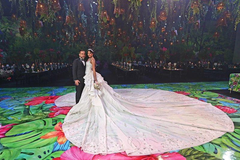 An Unbelievable Jungle Paradise Themed Wedding