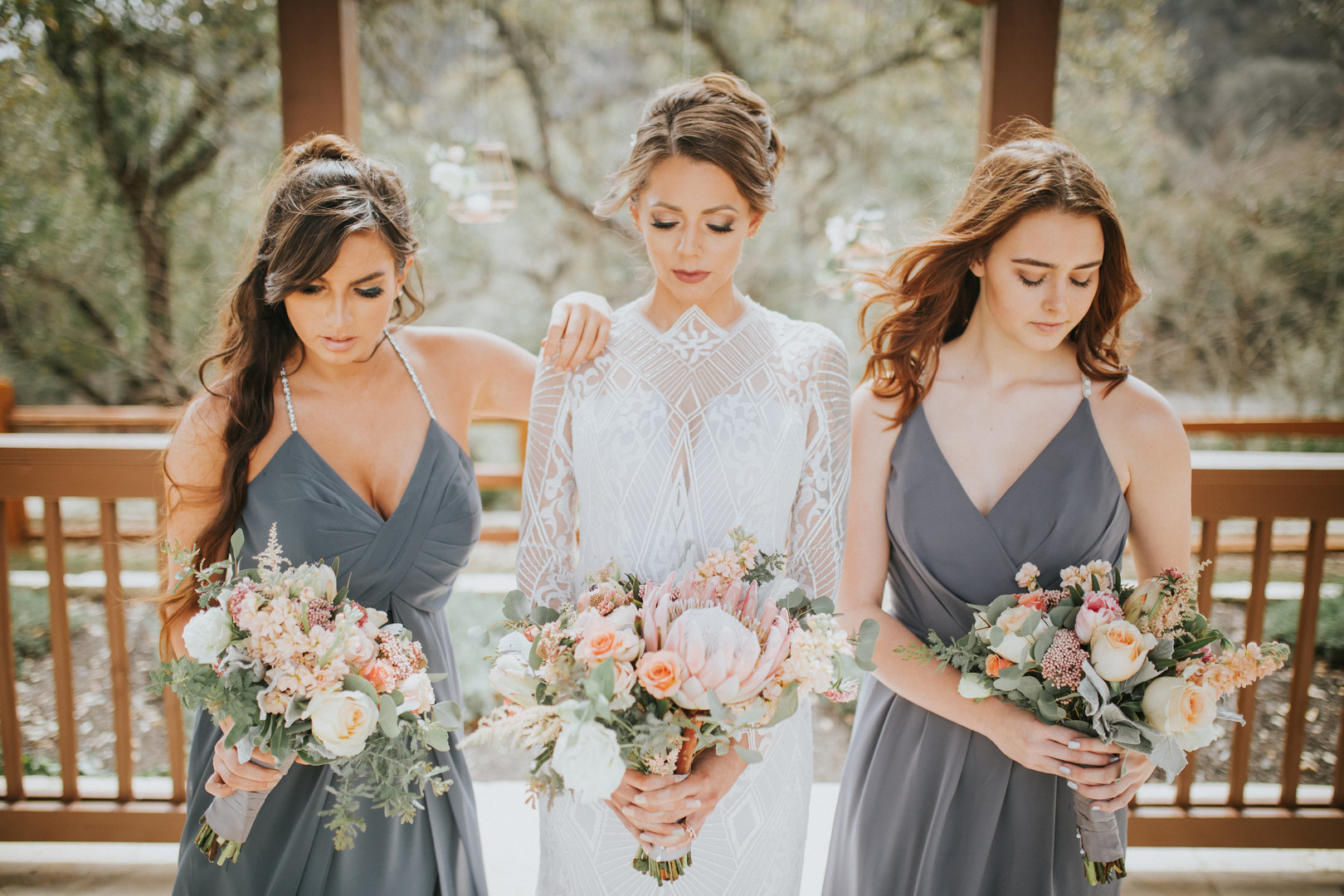 An Orange, Gray and Ivory Styled Shoot