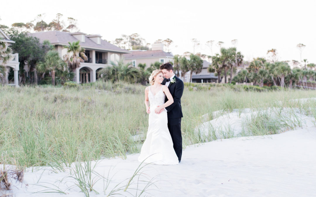 Romantic Oceanfront Wedding on Hilton Head Island: Jessica & Brian