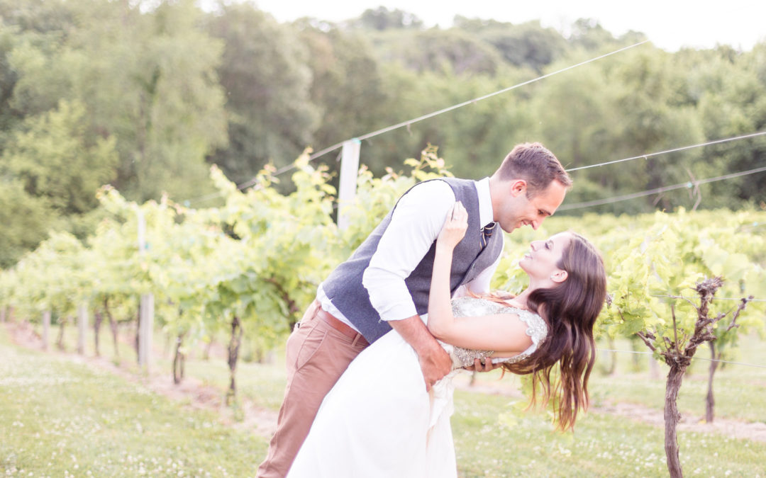 Vintage Inspired Cedar Ridge Winery Wedding: Courtney & Jacob