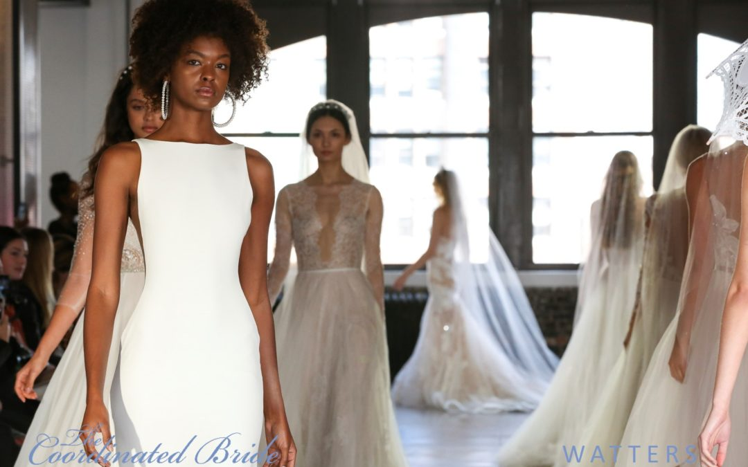 New York Bridal Fashion Week Recap F/W 2019 – Watters  {The Coordinated Bride}