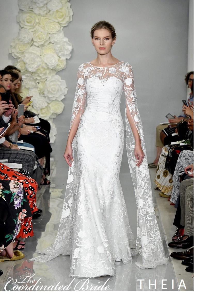 New York Bridal Fashion Week Recap F W 2019 Theia The Coordinated Bride