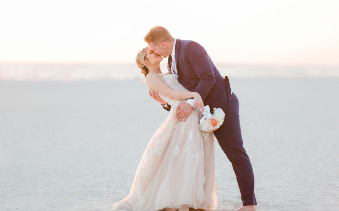 Romantic Seaside Beach Wedding – Sara and Matt