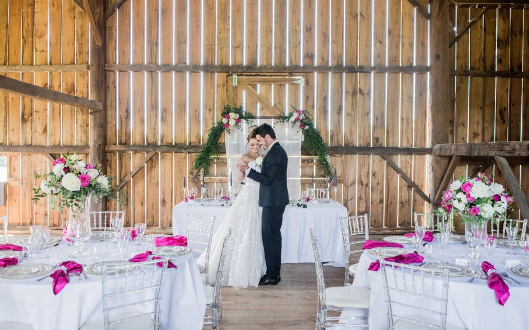 Styled Barn Wedding in Bradford