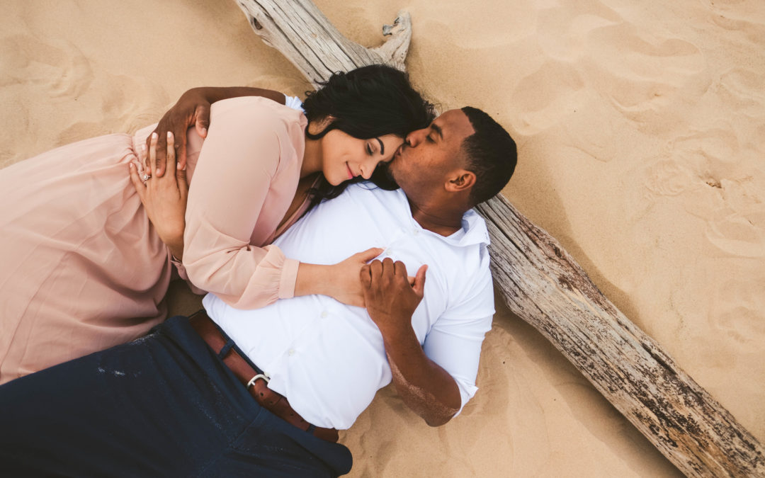 Bohemian Chic Sand Dune Engagement  Session: Hannah & Michael