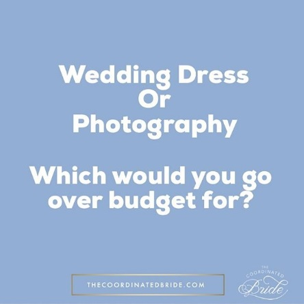 Wedding Talk- Budgeting the Wedding Dress and Photography