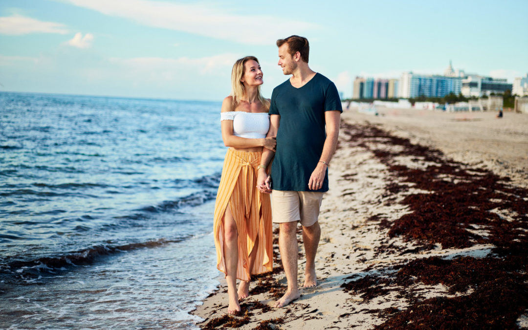 Como Metropolitan Miami Beach Engagement Session: Emelie & Peter