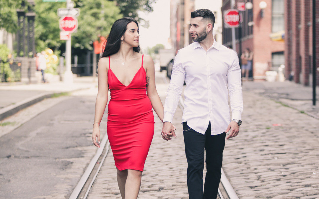 DUMBO New York Engagement Session: Anna & Derek