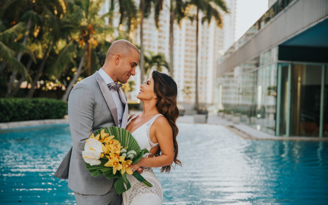A Modern Luxury Wedding in Downtown Miami