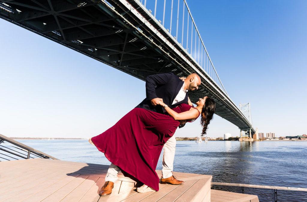 Romantic Autumn Engagement in Philadelphia – Hiral & Dina