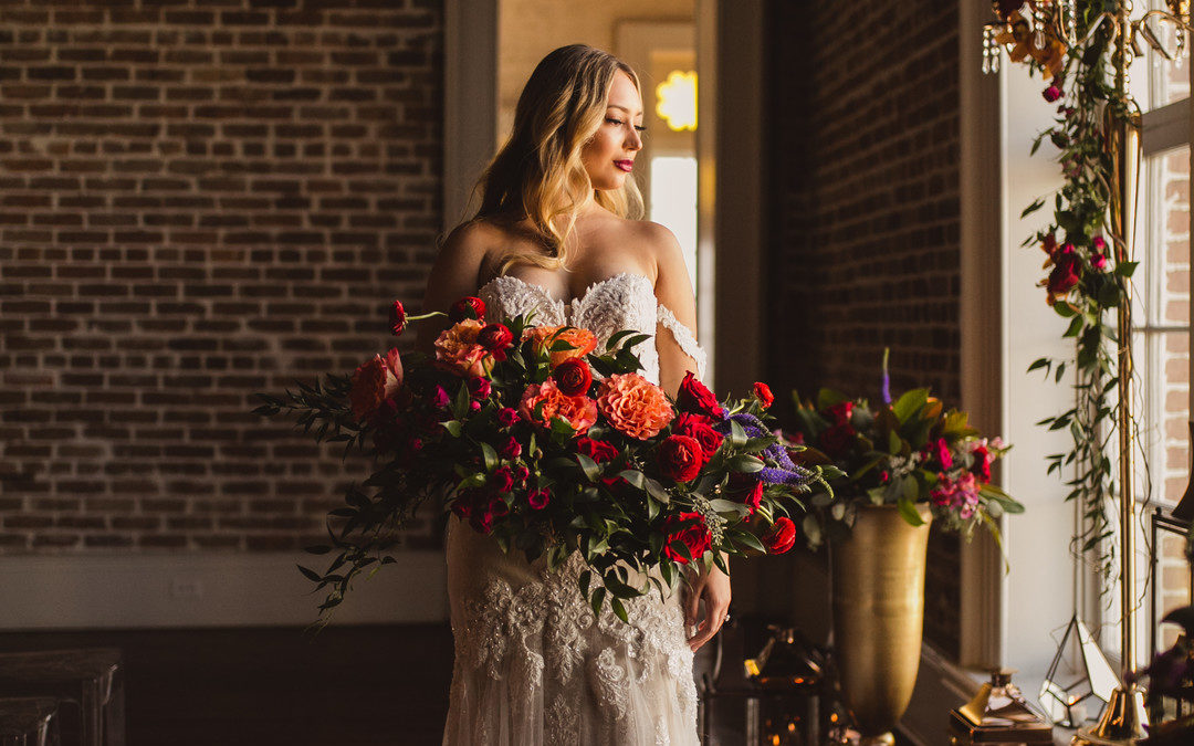 A Modern, Geometric & Colorfully Bold  New Orleans Wedding Shoot