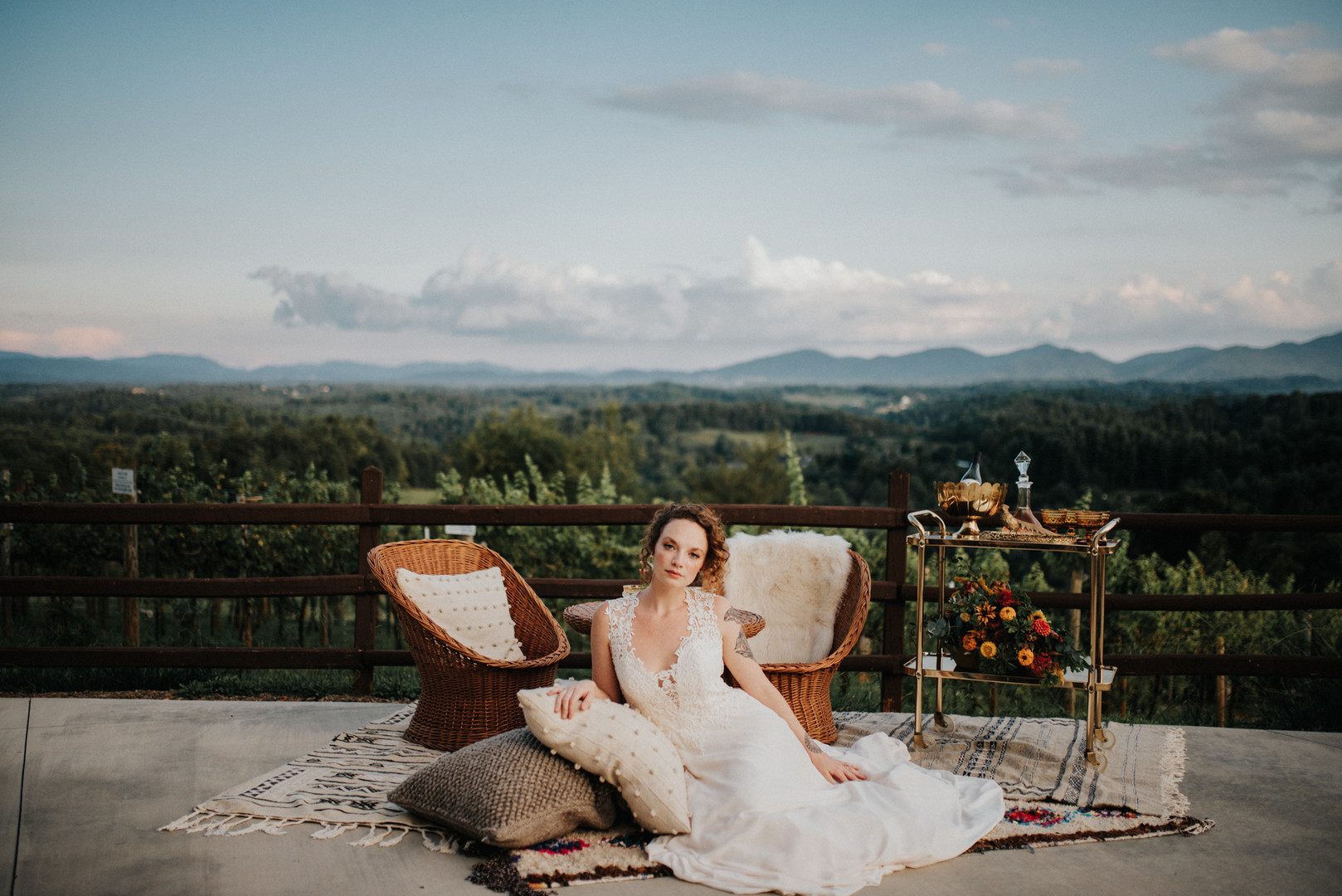 Moonlit Vineyard Wedding in the Blue Ridge Mountains