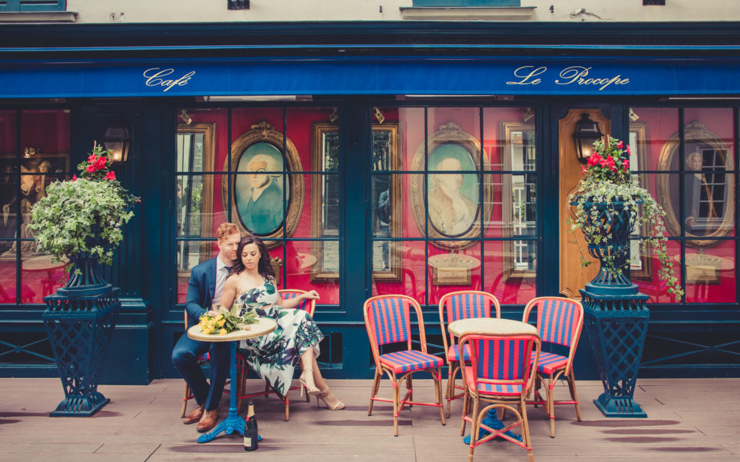 A Spring Engagement Session Strolling Through the Streets of Paris