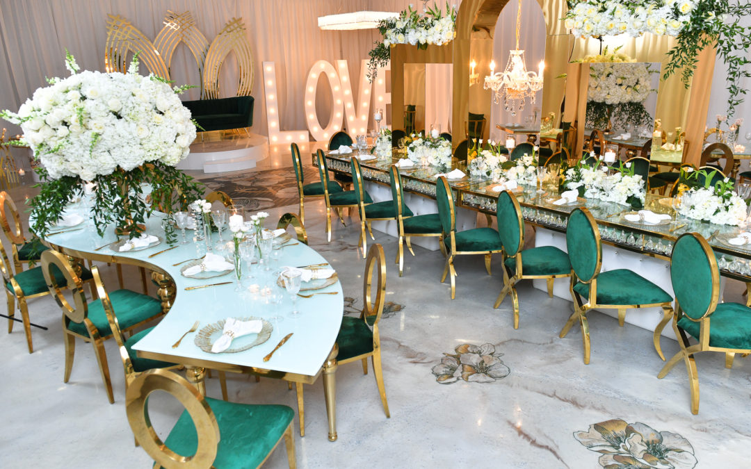 Elegant & Extravagant Green, Gold & Ivory New York Wedding Inspiration