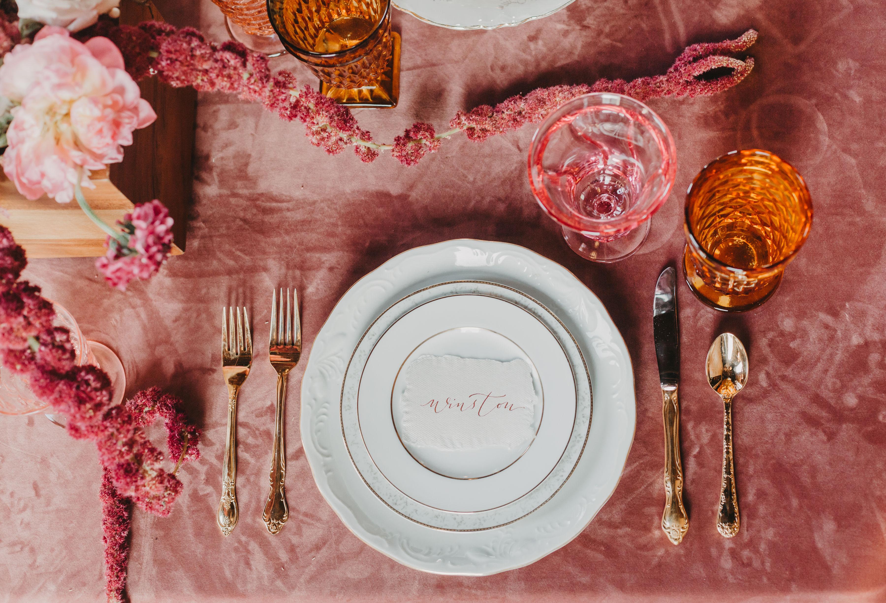 Romantic Blushed Vintage Wedding Inspiration