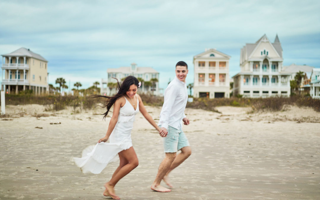 Vintage Waterfront Couple's Session in Galveston