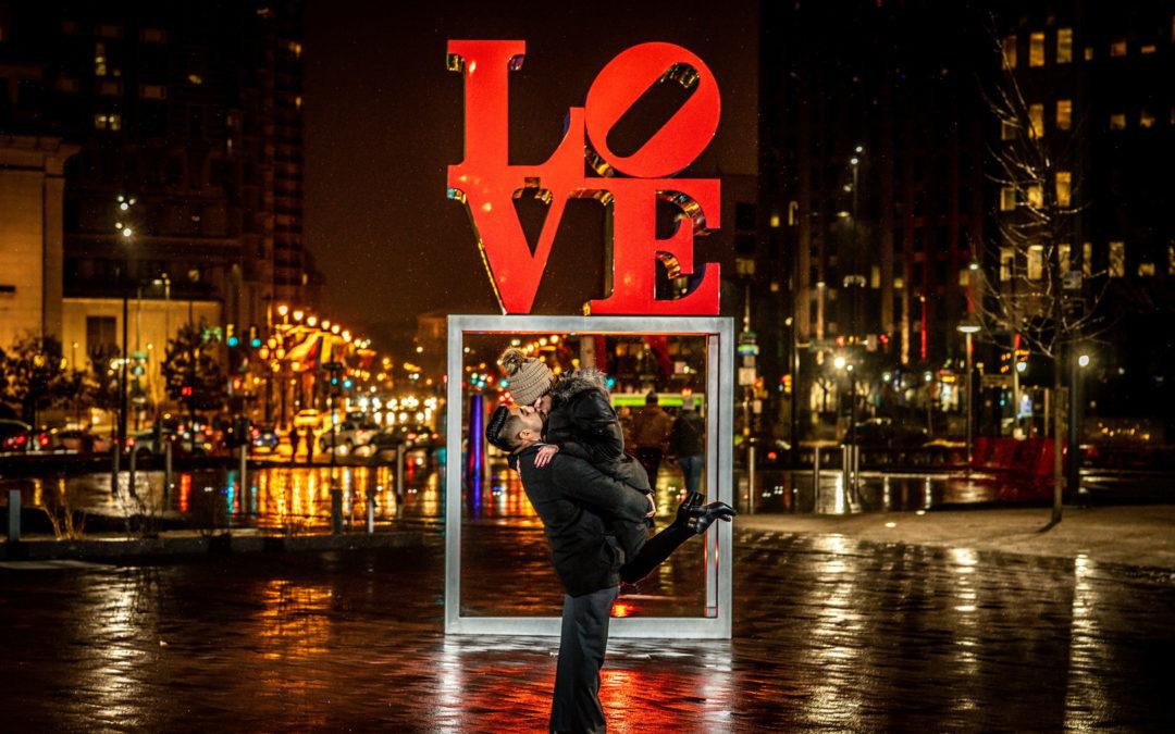 Philadelphia LOVE Park Proposal: Brittany & Carlos