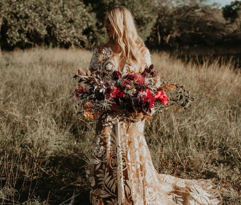 Austin, Texas Non Traditional Bohemian Wedding Inspiration