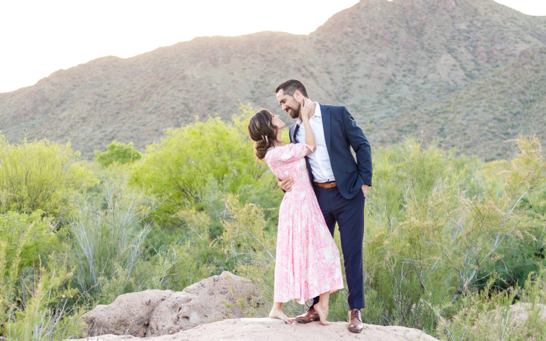 Salt River Anniversary Session at Sunset