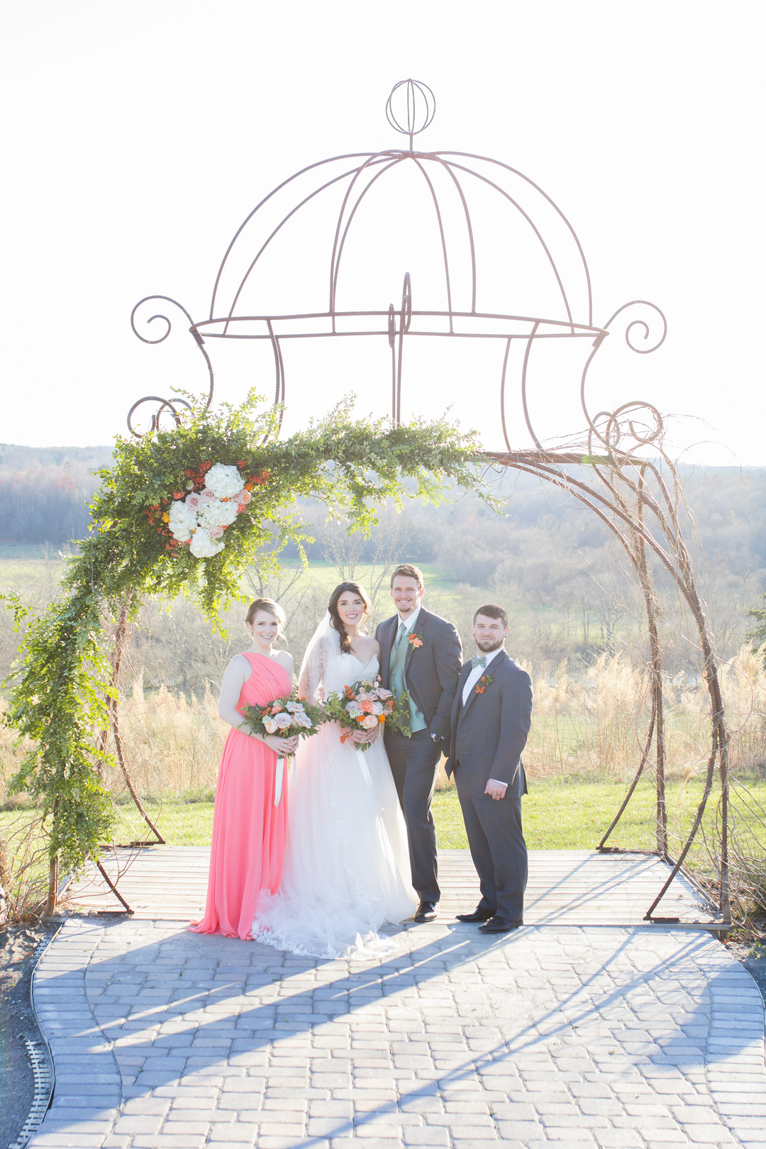 Coral Sunset Wedding in North Carolina – Him & Her Photography