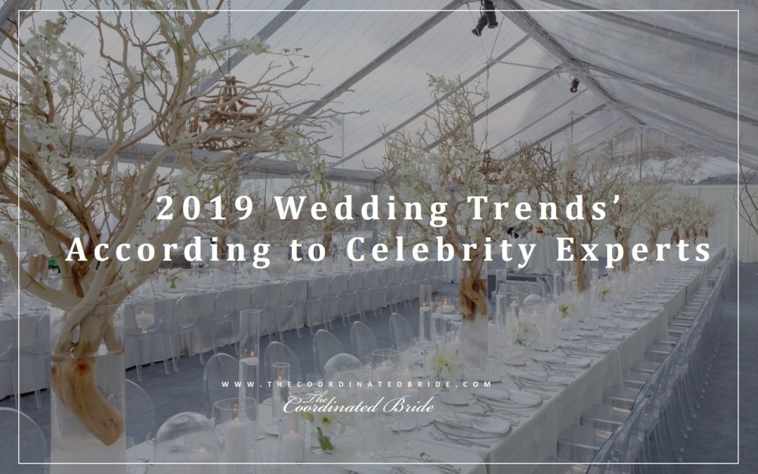 2019 Wedding Trends' According to Celebrity Experts
