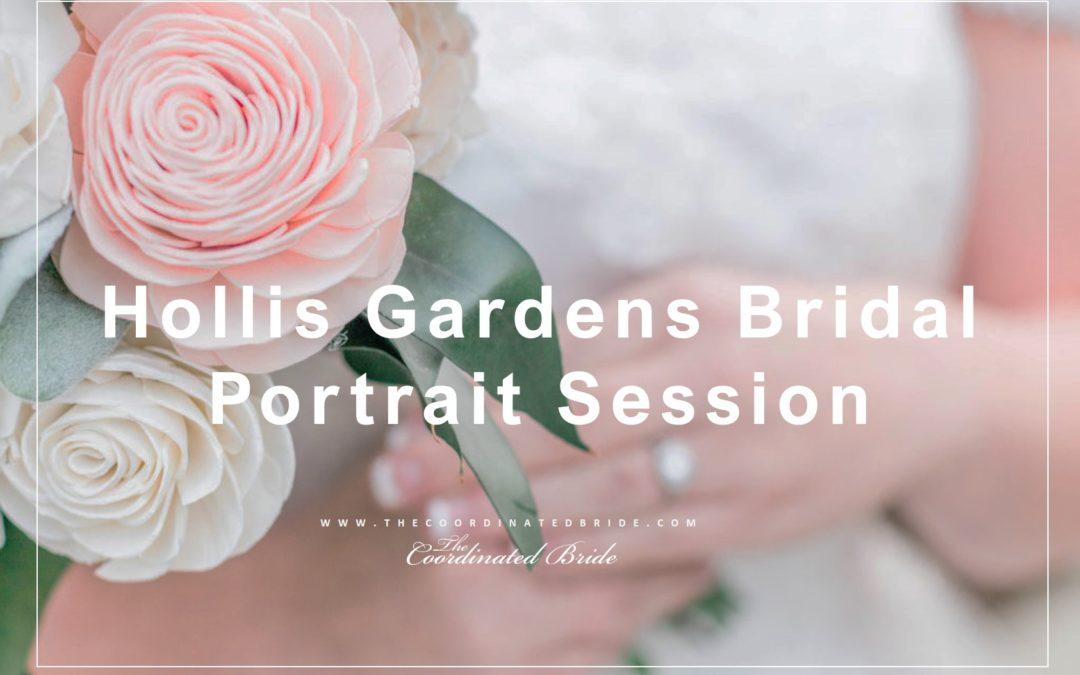 Serene Hollis Garden Bridal Portrait Session
