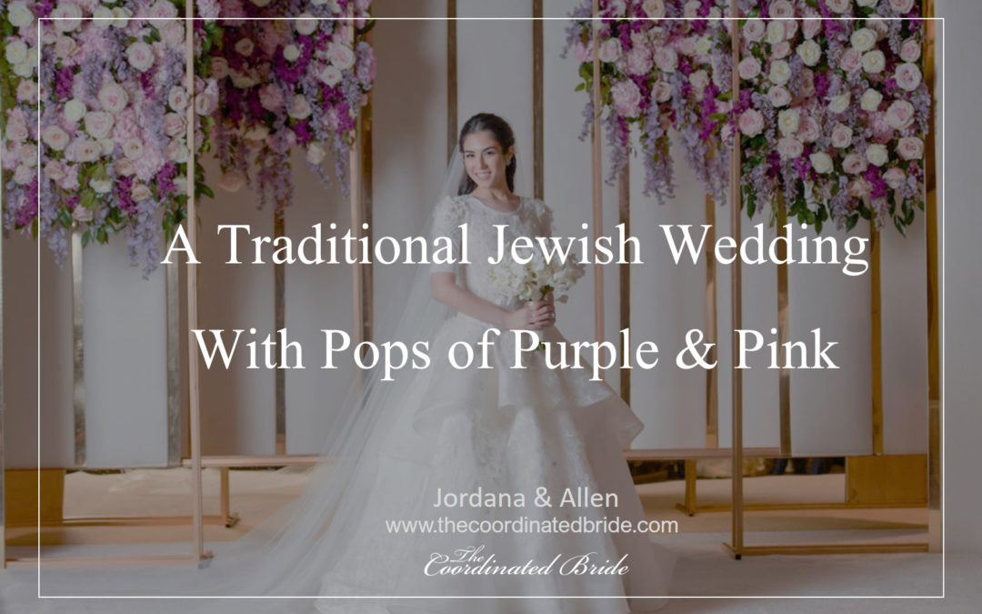 Pops of Pink Traditional Jewish Wedding: Jordana & Allen