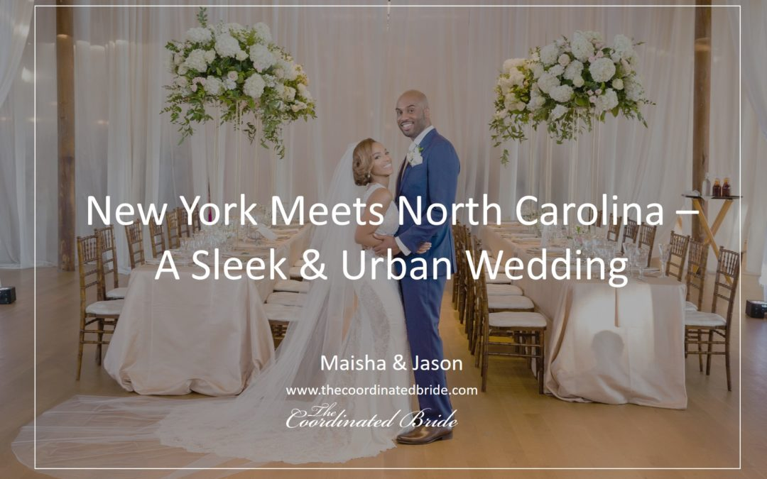 A Sleek & Urban Garden Durham, NC Wedding: Maisha & Jason