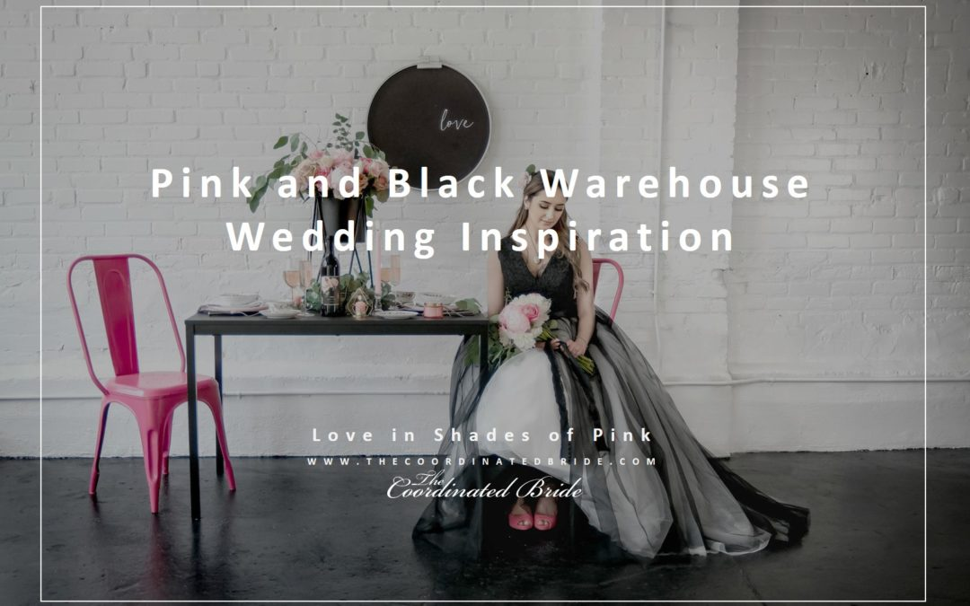 A Pink, Black & White Chic Warehouse Wedding