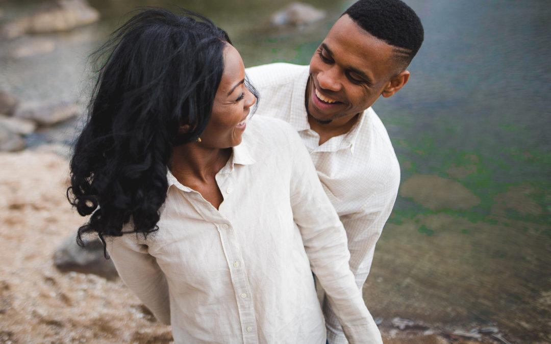 Great Falls Park Engagement Shoot – Jordan and Cheyna