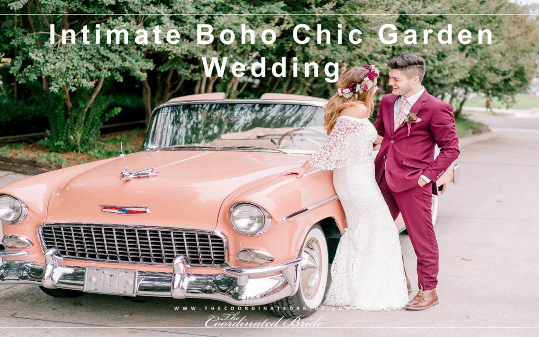 Intimate Boho Chic Garden Wedding: Jenna & Conner