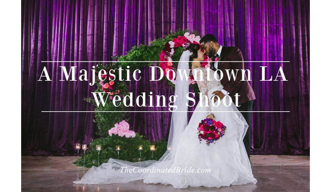 An Elegant & Majestic Purple, Fuchsia, Burgundy, and Black Styled Shoot