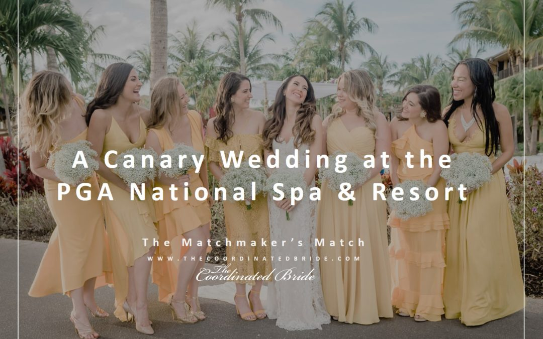 A Gorgeous Florida Canary Wedding at the PGA National Spa & Resort