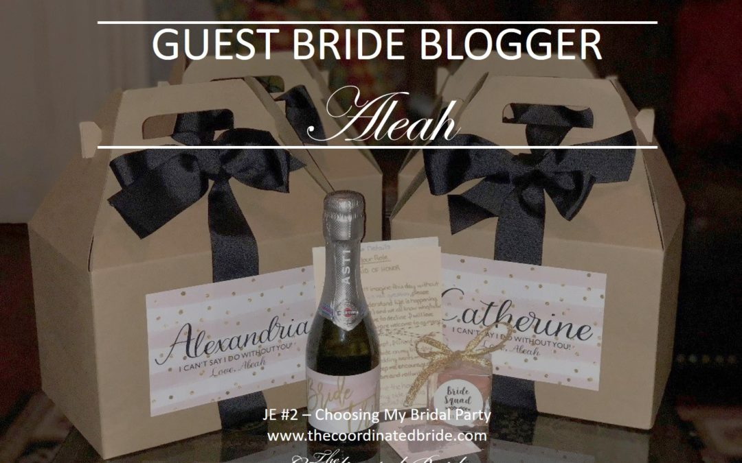 Choosing My Bridal Party – Guest Bride Blogger Aleah JE#2