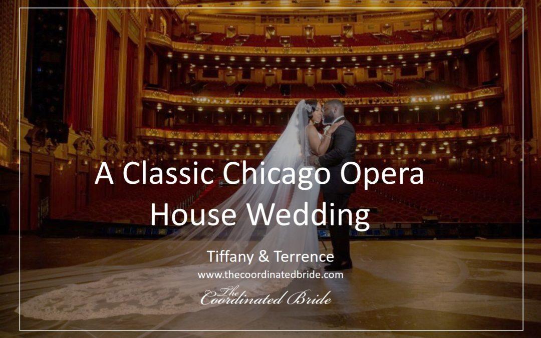 A Classic & Elegant Black & Gold Chicago Opera House Wedding – Tiffany & Terrence