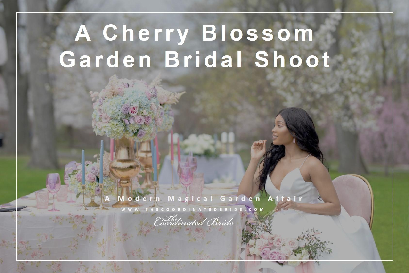 A Cherry Blossom Garden Bridal Shoot