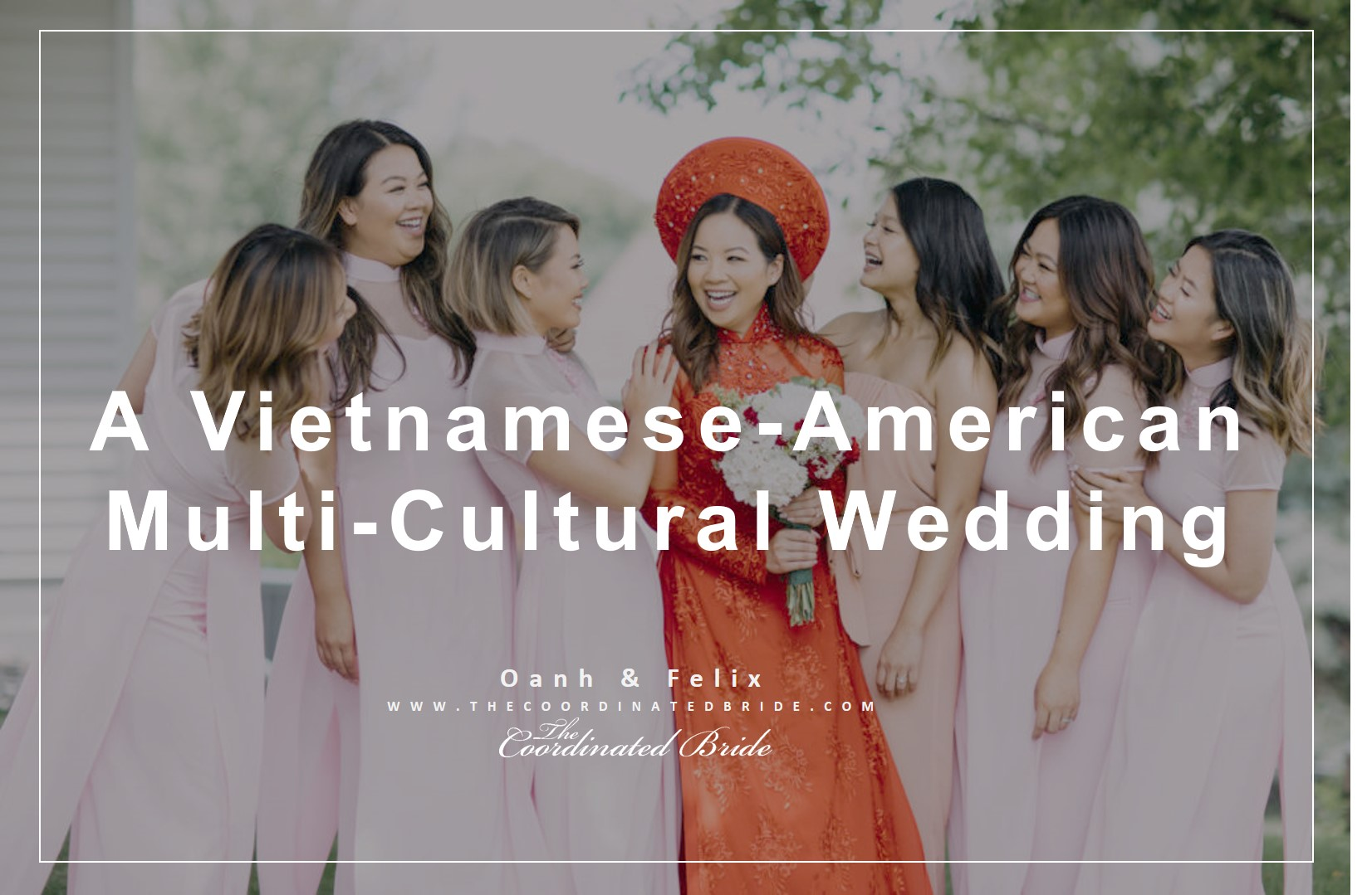 Vietnamese-American Wedding with Touches of Pink & Gold