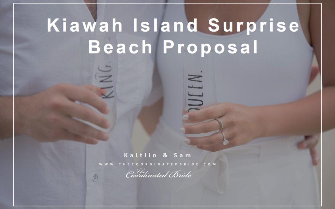 Kiawah Island Surprise Beach Proposal – Kaitlin & Sam