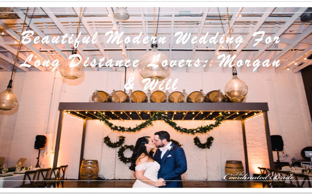 Beautiful Modern Wedding For Long Distance Lovers: Morgan & Will