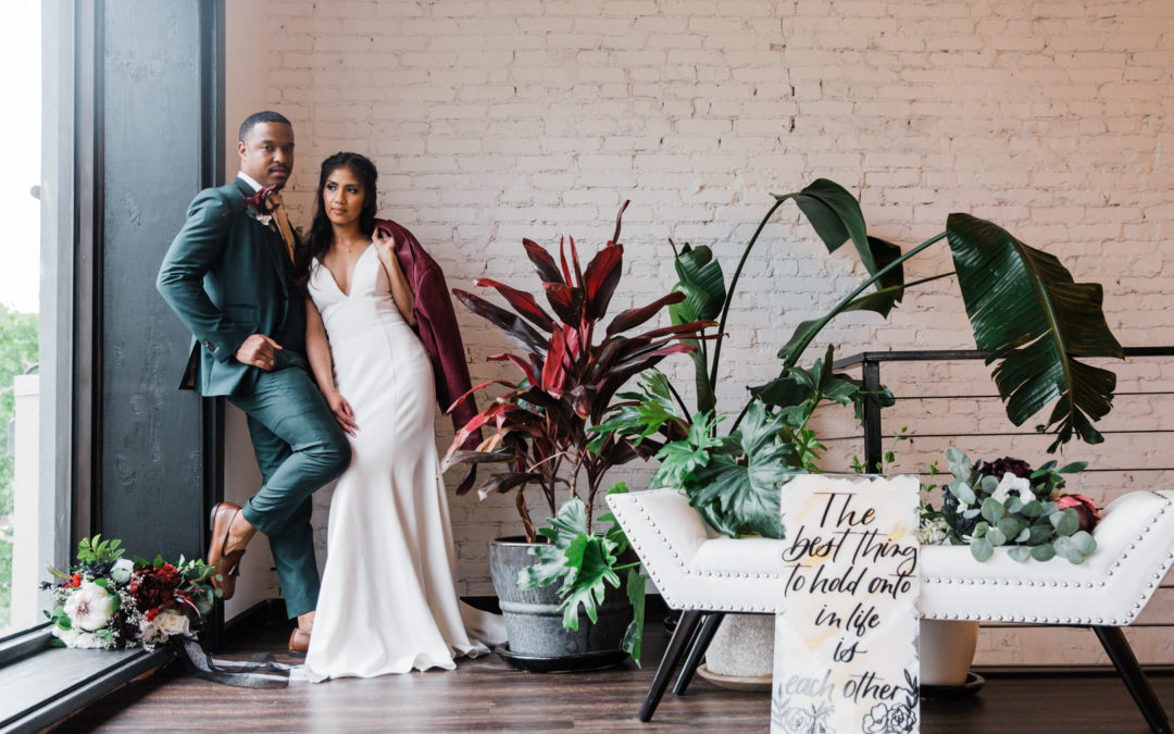 Ruby and Emerald Industrial Styled Shoot