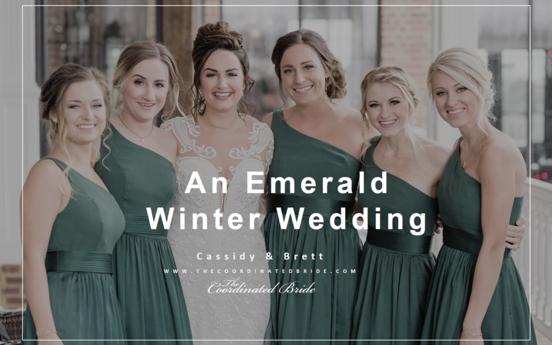 An Elegant Winter Wonderland Wedding With Touches of Emerald Green