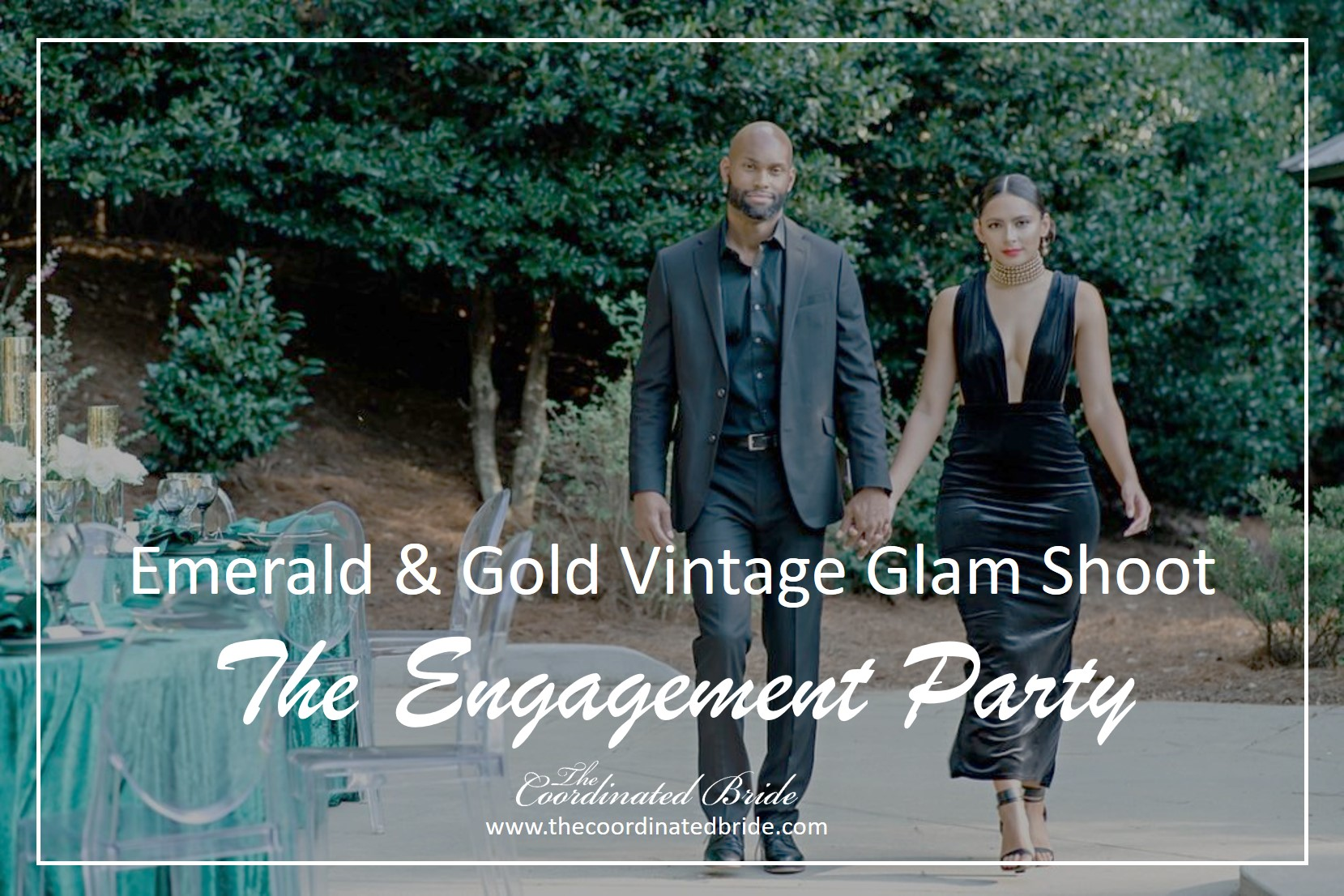 Vintage Glam Engagement Party Styled Shoot