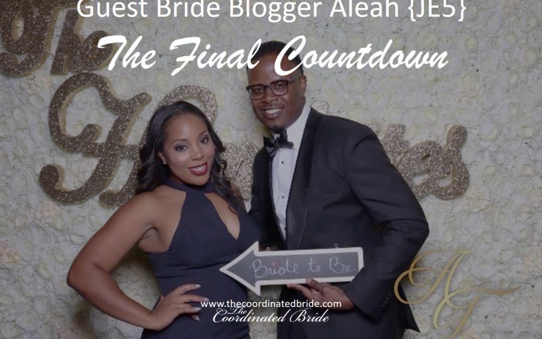 The Final Countdown!   ~ Guest Bride Blogger Aleah's Wedding Day -JE#5