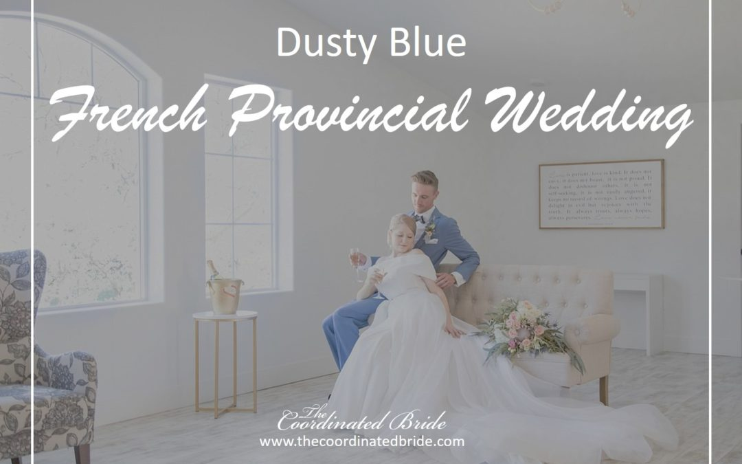 Dusty Blue French Provincial Wedding Inspiration