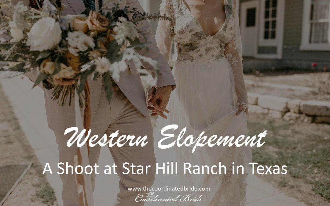 Western Elopement Shoot at Star Hill Ranch in Austin, TX