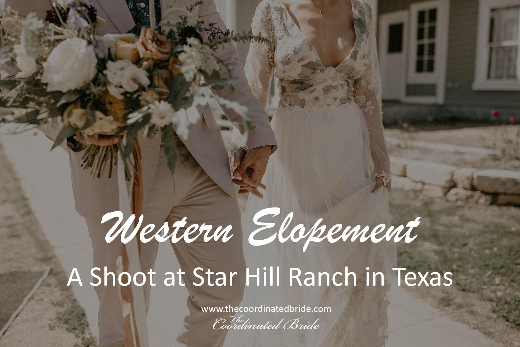 Western Elopement Shoot at Star Hill Ranch in Austin, TX
