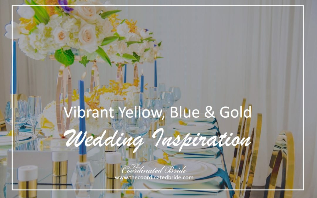 Modern & Bold Blue & Yellow Wedding Inspiration
