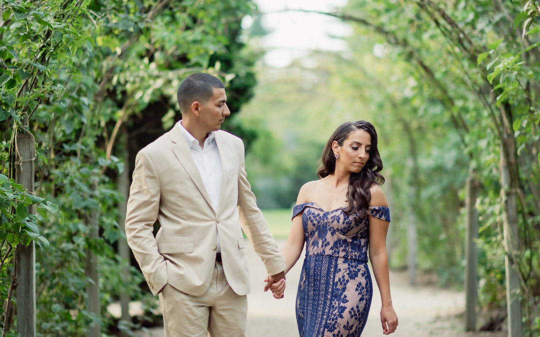 A Romantic Garden Engagement Session – Tony and Monica