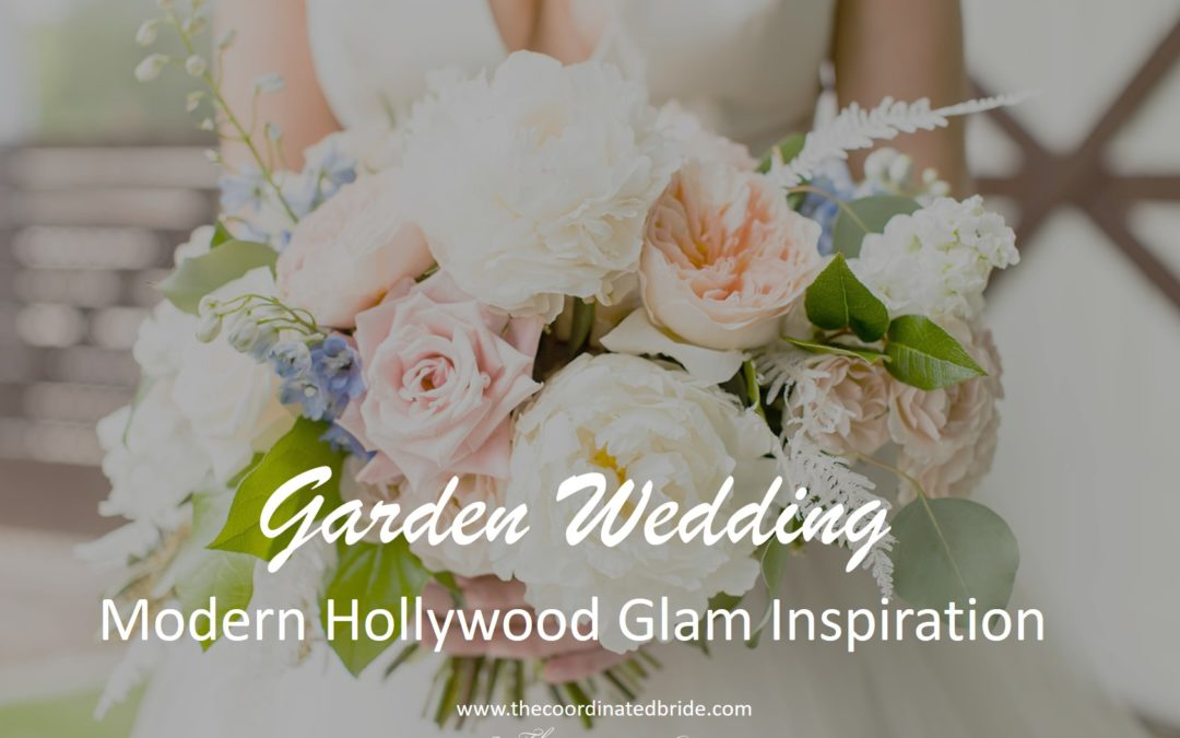 A Modern Twist on A Hollywood Glam Garden Wedding at Hughes Manor