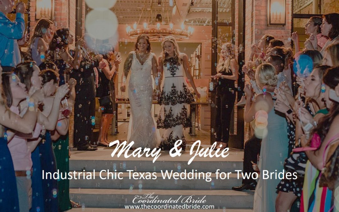 Industrial Chic Texas Wedding for Two Brides